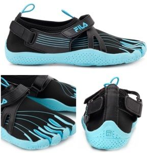 Fila Skele Toes Black Blue Velcro Pull On Athletic